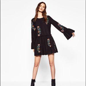 Zara Embroidered Floral Dress